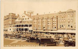 Keene NH Main Street Cheshire House RPPC Postcard