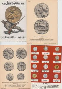 COINS MONEY 40 Cartes Postales 1900-1940