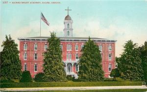 Salem Oregon~Cross Over Double Belfy~Huge Evergreens~Sacred Heart Academy~c1910