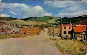 Cripple Creek CO Street Vue Old Cars Postcard