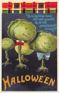 Ellen Clapsaddle Artist Signed Halloween Poem Embossed Postcard