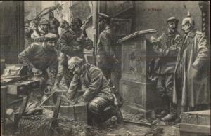 WWI Anti Germany Propaganda Soldiers & Kaiser Pillaging Publ in Belgium PC