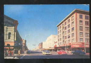PHOENIX ARIZONA DOWNTOWN STREET SCENE 1950's CARS VINTAGE POSTCARD