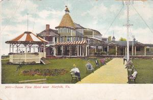 PC With Glitter Accents, Cabana, Ocean View Hotel, Near Norfolk, VA, 1901-07