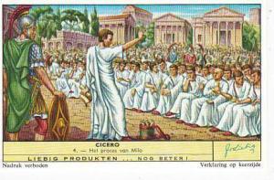 Liebig Trade Card s1754 Cicero No 4 Het proces van Milo