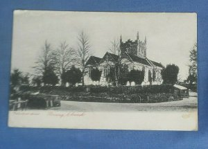 Vintage Postcard St.Mary's  Church  Basing Essex Postmarked 1903 I1