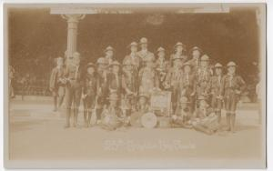 25th Brighton Boy Scout Troop, PPC, Unposted c 1910's, Hove Parish Church Troop