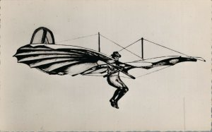 Aviation 1891 Leihenthal Le pére du vol plane Airplane RPPC 07.30