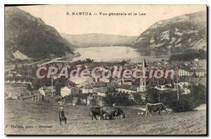 Postcard Old Nantua general view and the Lake