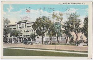 1929 CLEARWATER Florida Fla Postcard GRAY MOSS INN Pinellas County