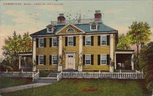 Massachusetts Cambridge Home Of Longfellow 1910
