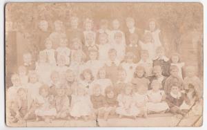 Social History; School Group, Addressed To Rev, Huish Episcopi RP PPC, c 1910's