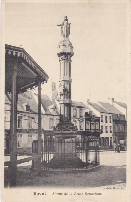 Statue De La Reine Brunehaut, BAVAI (Nord), France, 1910-1920s