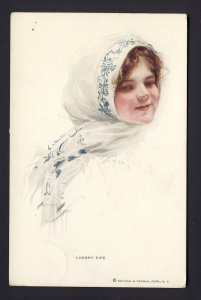 CHERRY RIPE #192 R&N young woman, scarf,  HARRISON FISHER artist
