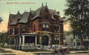 Glens Falls, New York, N.Y., USA Mason, Mason's Fraternal Organization, Postc...