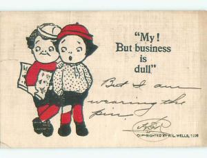 Pre-1907 comic KIDS SAY BUSINESS IS DULL k6920