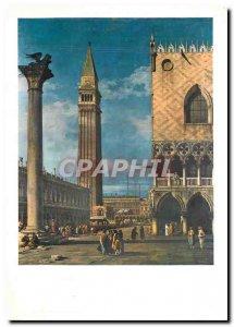 Postcard Modern Bernardo Bellotto Venice Little St. Mark's Square view from t...