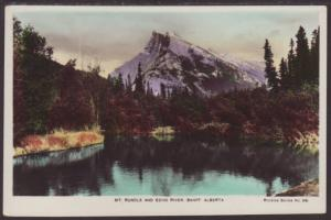 Mt Rundle,Echo River,Alberta,Canada Postcard