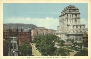 canada, MONTREAL Que, Sun Life Building and Dominion Square (1940s)