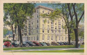 WATERBURY, Connecticut, 1930-1940's; The Elton Hotel, Classic Cars