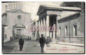 Old Postcard Courthouse Narbonne The Tribunal and the Chapel of the Penitents