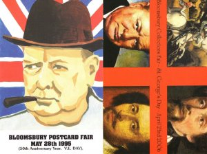 Winston Churchill 2x Advertising Limited Edition Postcard s