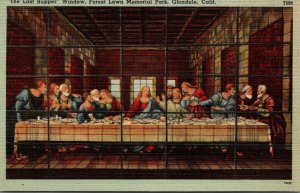 California Glendale Forest Lawn Memorial Park The Last Supper Window 1946