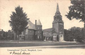 congregational church naugatuck connecticut L4714 antique postcard