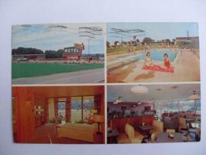 1970 Park Terrace Restaurant & Motel Fulton KY Postcard y7385