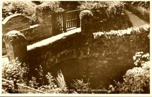 UK - England. Holywood. The Kissing Bridge, now Twisel Bridge. Honoring Richa...