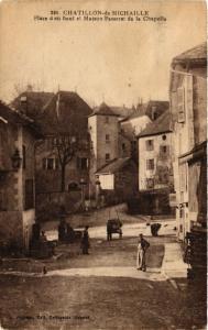 CPA  Chatillon-de-Michaille - Place d'En Haut et Maison Passerat  (485162)