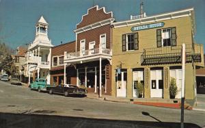 Nevada City California 1960s Postcard Street Scene