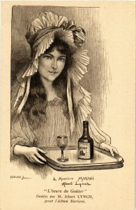 PC CPA ADVERTISING, MARIANI, DESSIN DE M. ALBERT LYNCH, POSTCARD (b18142)