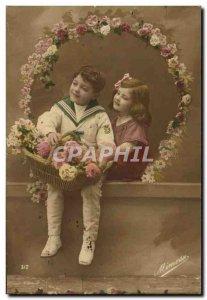 Postcard Happy New Year Old Children
