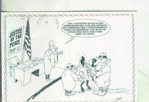 Postal: Boda en Reno-USA, ilustracion de C.Paez