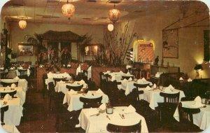 Key West Florida Lee's Orient Chinese Restaurant 1950s Postcard Dexter 21-5941