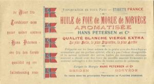 norway norge, Norwegian Hans Petersen & Co. Cod Liver Oil Leaflet (1930s)