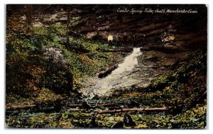 Early 1900s Center Springs Falls, South Manchester, CT Postcard