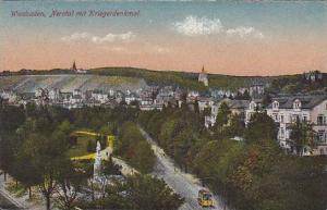 Germany Wiesbaden Nerotal mit Kriegerdenkmal