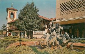 Kansas City MO~Neptune Fountain~Country Club Plaza~Store Mannequins~1950s