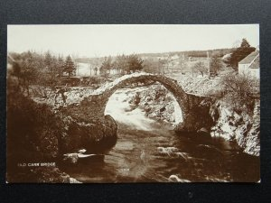 Scotland Carrbridge OLD PACKHORSE BRIDGE c1930s RP Postcard J.S. Lawrence & Co.
