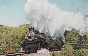 Canadian Pacific 1286 Steam Engine Train, Climbing Jack's Mountain, Iron Spri...