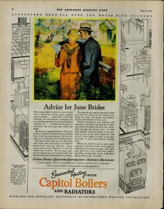 1927 Capitol Boilers and Radiatos Couple Walking Outside Vintage Print Ad 3913