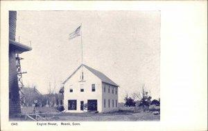 Noank CT Fire Station Engine House c1905 Postcard