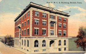 Bristol Tennessee~New YMCA Building~Buidings Behind~1912 Postcard