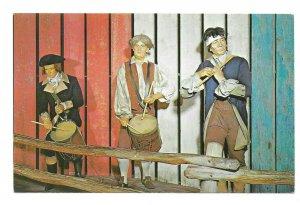 American Wax Museum Patriotic Postcard Phila PA Spirit 76 Fife n Drum Colonists