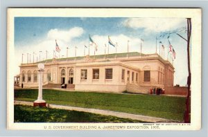 Jamestown Exposition 1907 No. 181 US Government Building - Official Postcard