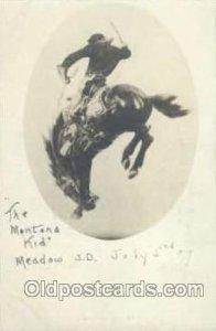 Western Cowboy Postcard Postcards The Montana Kid Unused