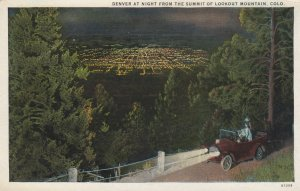 Denver from LOOKOUT MOUNTAIN , Colorado , 1910s ; Summit at night