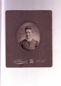 Woman in High Necked Dress, Glencoe, Ontario, Vintage Cardboard Photograph
